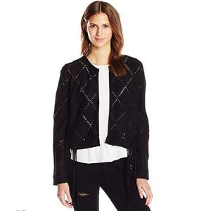 NWT Haute hippie Frilly Suede Topper Jacket size 6